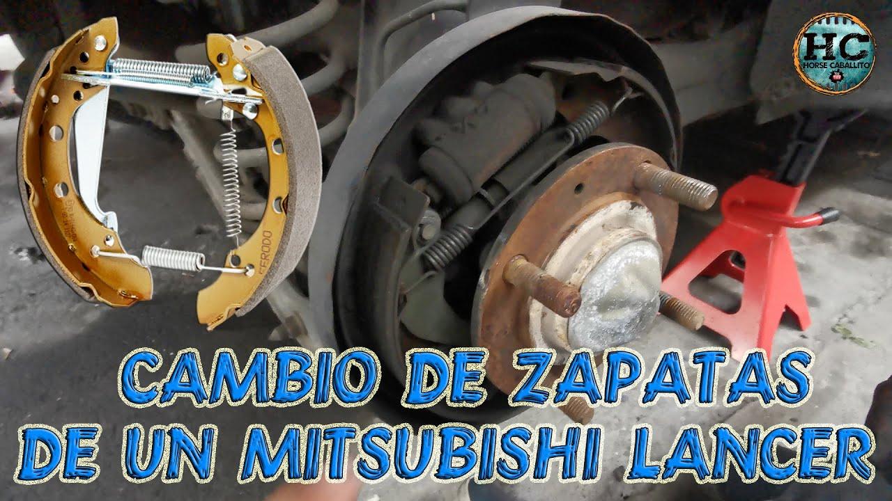 cambio de zapatas de frenos traseros de mitsubishi lancer