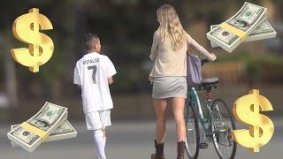 12 Year Old Cristiano Ronaldo Exposes Gold Diggers Prank!