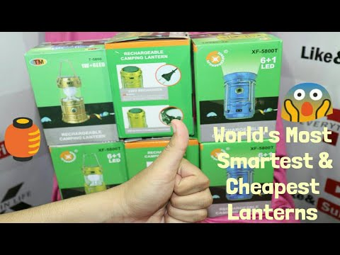 Smart LED Lantern | Unboxing & Review | Very Cheap | Very Useful | Solar Charging & Power Bank - T.K