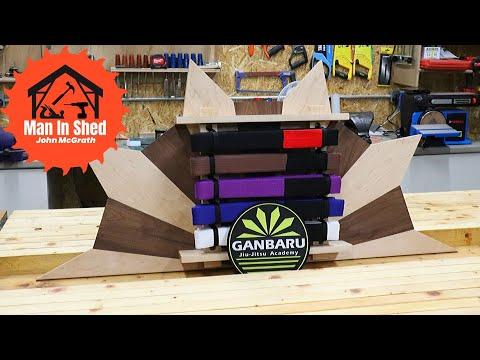 Jiu Jitsu Belt Display Rack Part 1