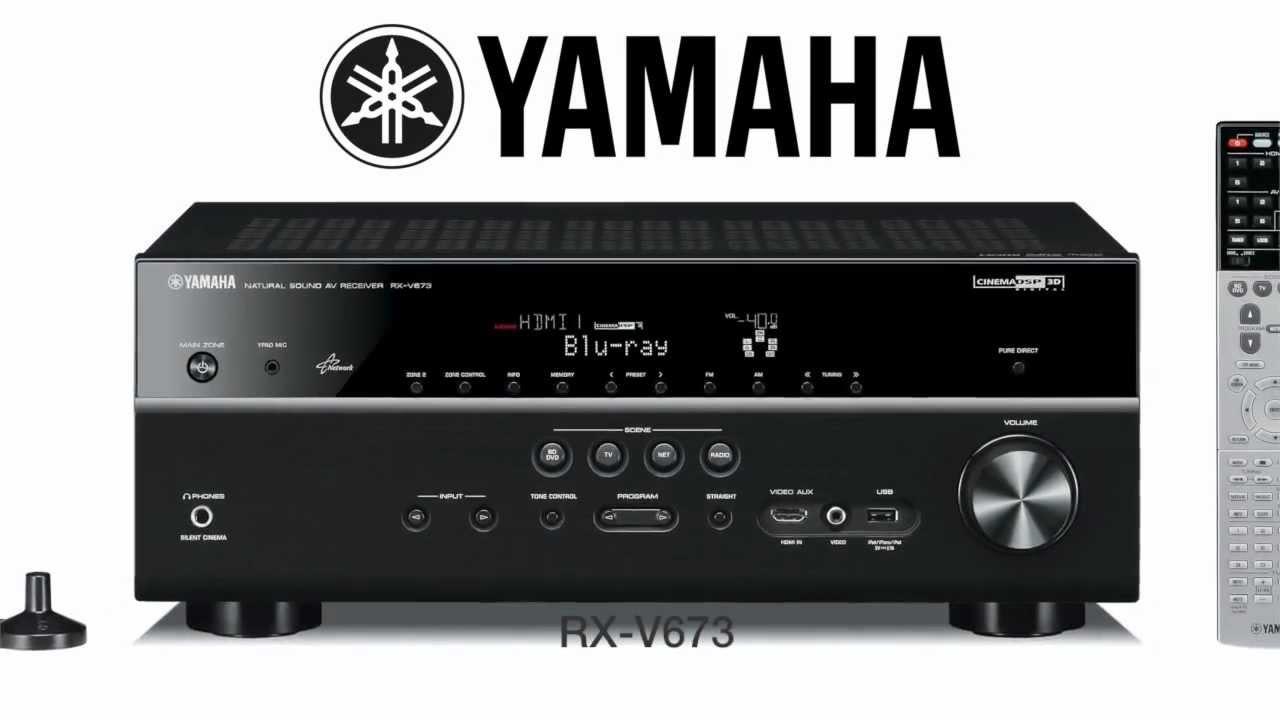 yamaha rx v673 ampli home cin ma yamaha youtube. Black Bedroom Furniture Sets. Home Design Ideas