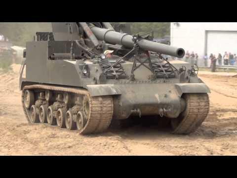 IWM Duxford, M40 155mm SPG,  16/06/2013.
