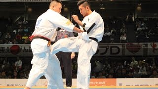 The 46th ALL JAPAN KARATE TOURNAMENT Men 2nd round Shohei Hasegawa ...
