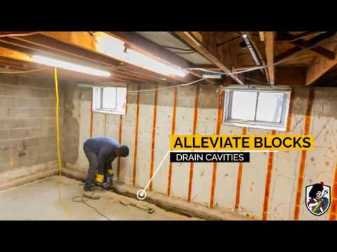 Interior Weeping Tile System Installation (With Sump)