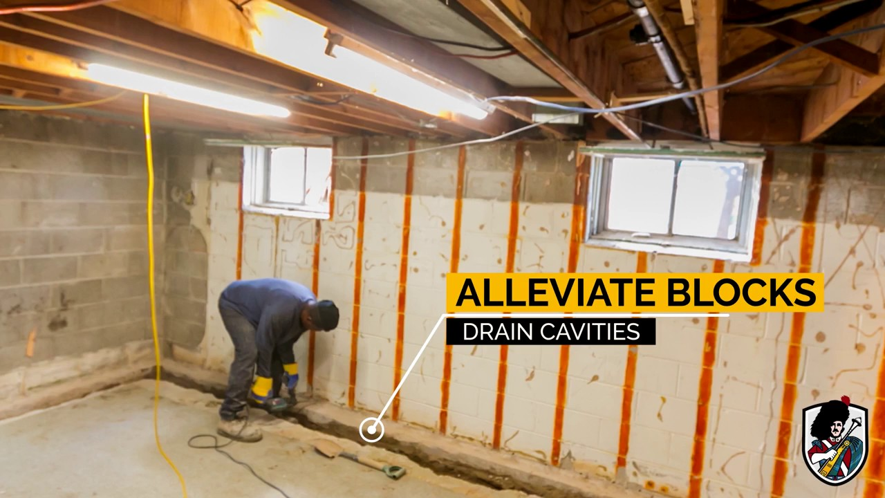 Interior Weeping Tile System Installation With Sump