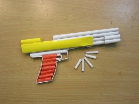 Make a Paper Airsoft Gun - ( Paper Pistol / Desert Eagle ) - Easy paper Gun  Tutorials