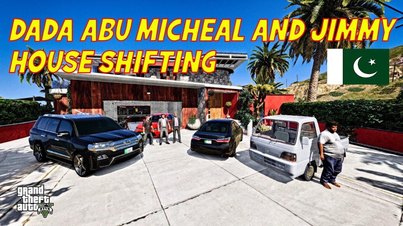 GTA 5 Pakistan | DADA ABU & Micheal | House Shifting | Ft.MZB GAMER | Urdu