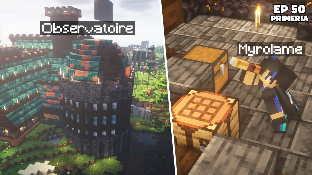 Download J'ai construit un OBSERVATOIRE à mon MANOIR ! - Episode 50 Primeria S3 - Minecraft Survie 1.17