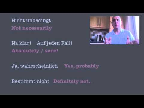 German Speaking Exam Tips