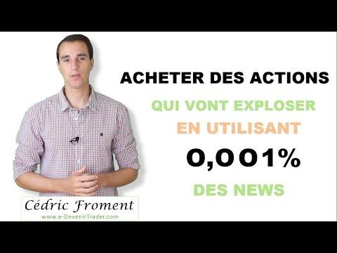 """Faire des """"coups"""" en bourse grâce aux news"""