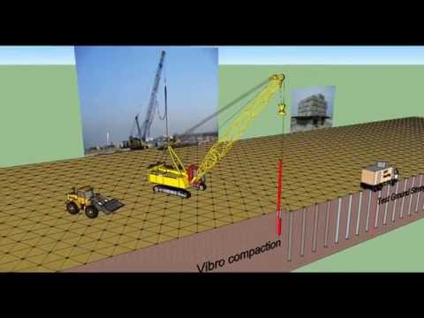 Vibro Compaction - 3D Visualisation of Construction