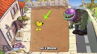 Plants vs Zombies 1 Pea vs 9999 Gargantuar vs Zomboni Zombi
