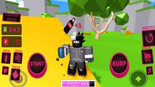 Becoming drunk by drinking soda in roblox