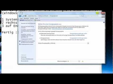 Windows 7 Bildschirmhelligkeit ändern (Laptop)