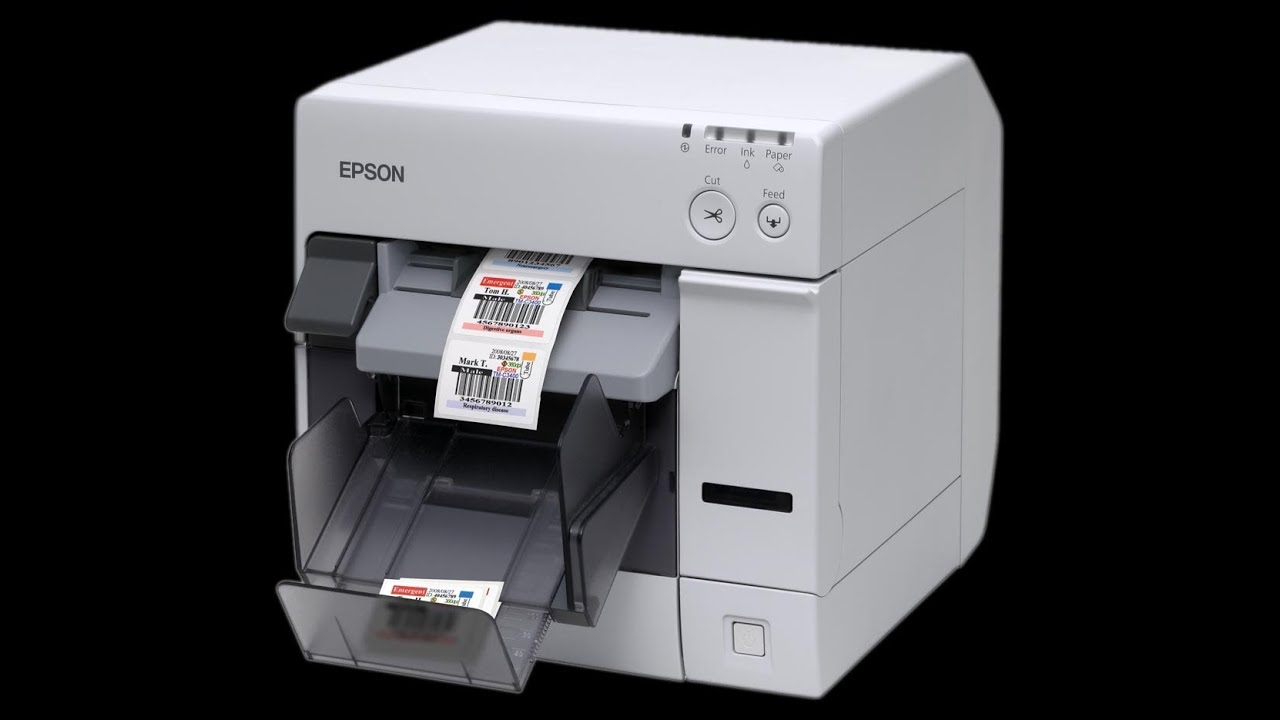Epson TM-C3400 colour label & wristband printer | FunnyCat TV