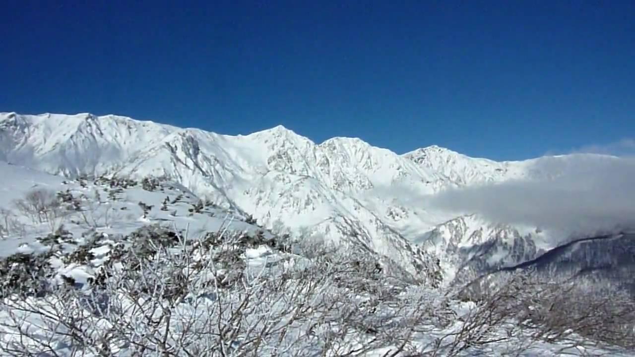 白馬八方尾根スキー場 黒菱平からの眺望 - YouTube