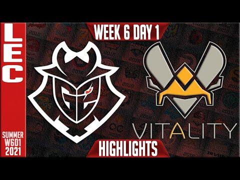 G2 vs VIT Highlights | LEC Summer 2021 W6D1 | G2 Esports vs Team Vitality
