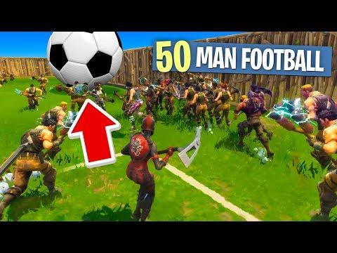 50 PLAYER FOOTBALL ON FORTNITE (Fortnite Battle Royale)