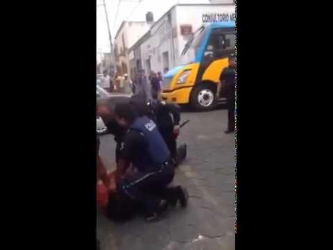 Policía Municipal de Puebla en acción.