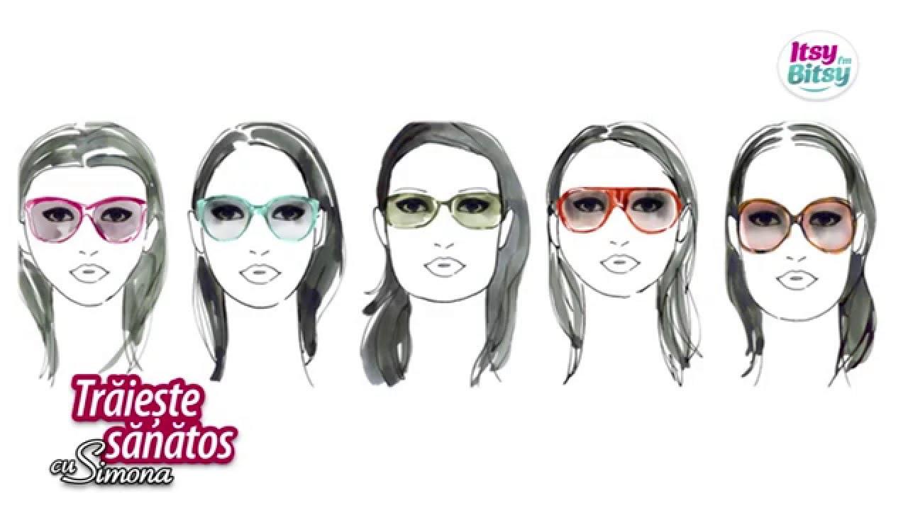 Forma ochelari in functie de forma fetei