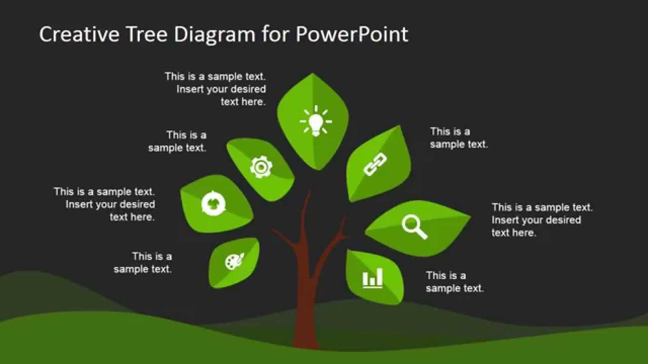 creative tree diagram template for powerpoint   youtubepsst