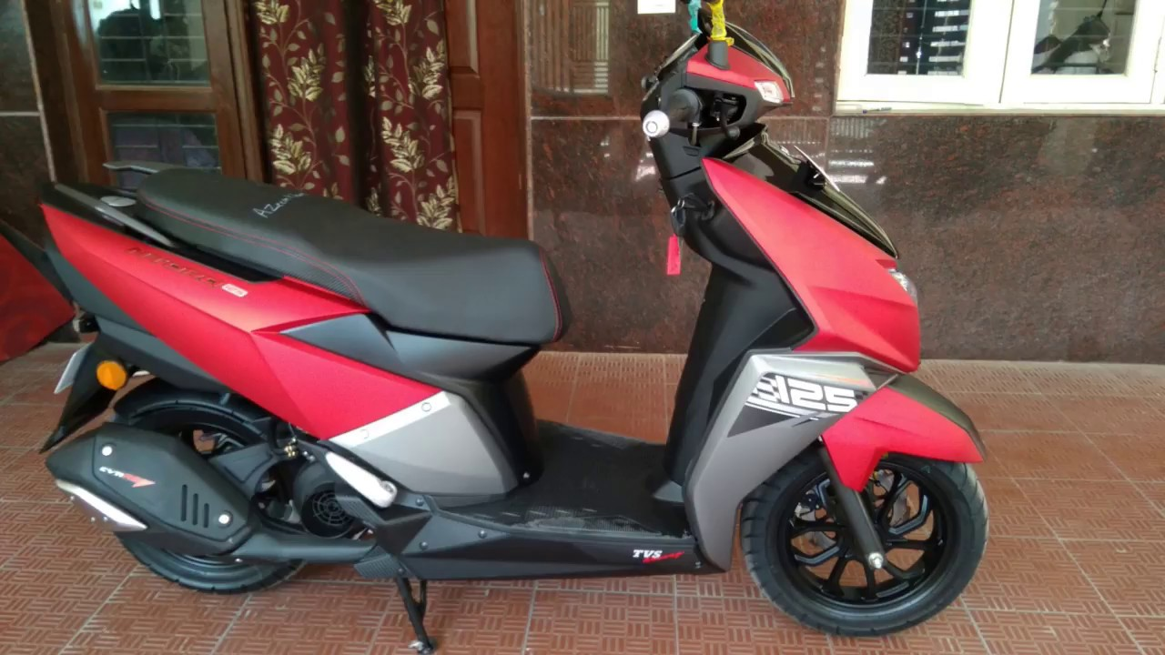 Tvs Ntorq 125 Review Red Black Color Youtube