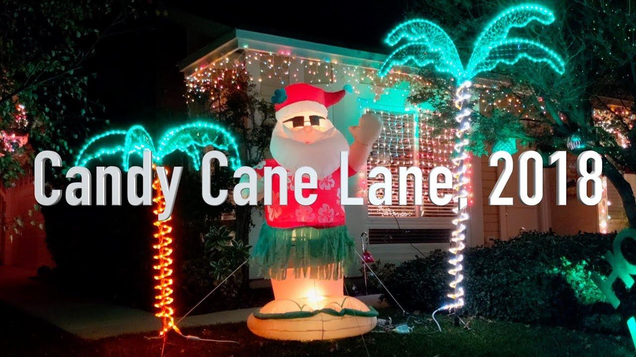 Christmas Lights In Camarillo 2021 Candy Cane Lane Camarillo 2018 Youtube