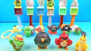 2016 THE ANGRY BIRDS SET OF 10 McDONALDS HAPPY MEAL MOVIE TOYS VIDEO REVIEW by FASTFOODTOYREVIEWS