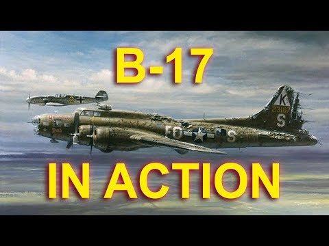 WWII B-17 Bombers in action