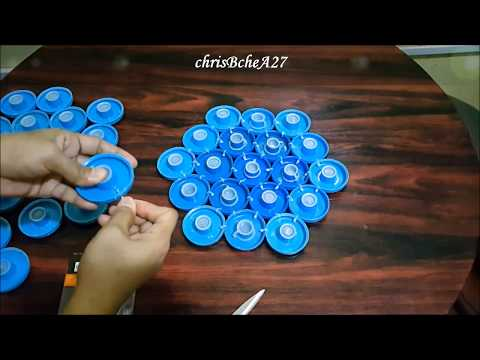 DIY#93 WALL DECOR Using Recycled Bottle Caps
