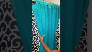 Diy shower curtain decor drapery look part 2
