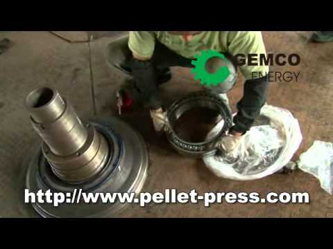 Ring die pellet mill-- how to install the quill shaft
