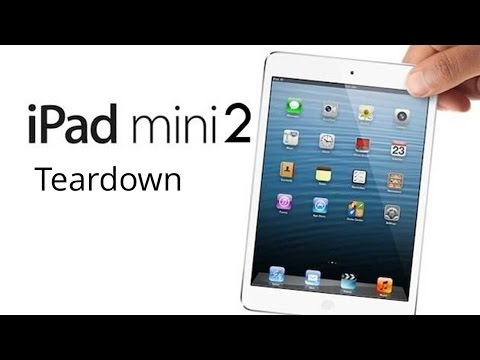 ipad mini 2 completely disassembly tear down crack screen replacement