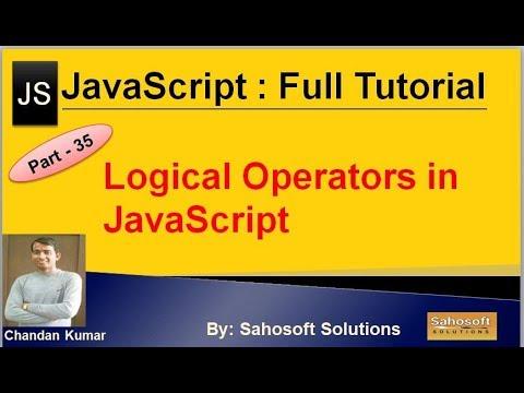 Logical Operators  in JavaScript  : Part - 35 : JavaScript Full Tutorial in Hindi thumbnail