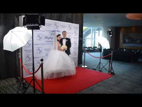 Red Carpet Photo Station Fairmont Pacific Rim Wedding Paradise Events