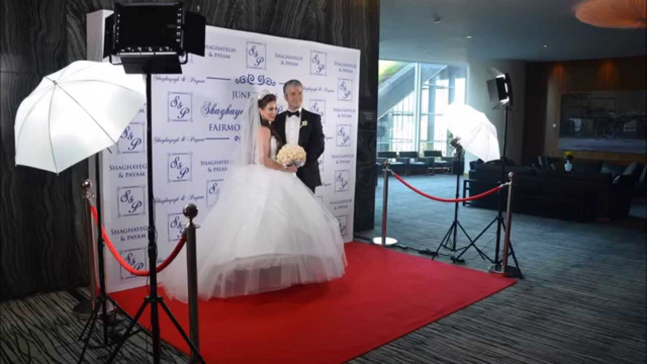 Red Carpet Photo Station Fairmont Pacific Rim Wedding Paradise Events