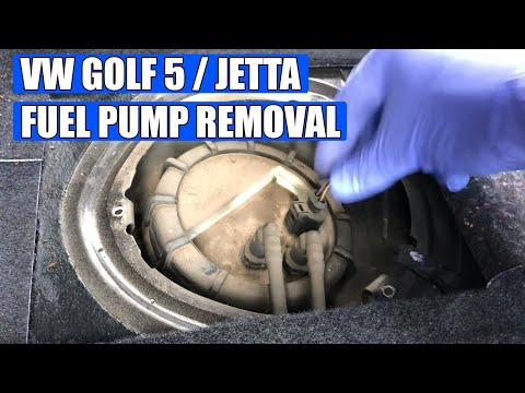 How to replace / change fuel pump VW Golf Mk5 TDI in 12 steps