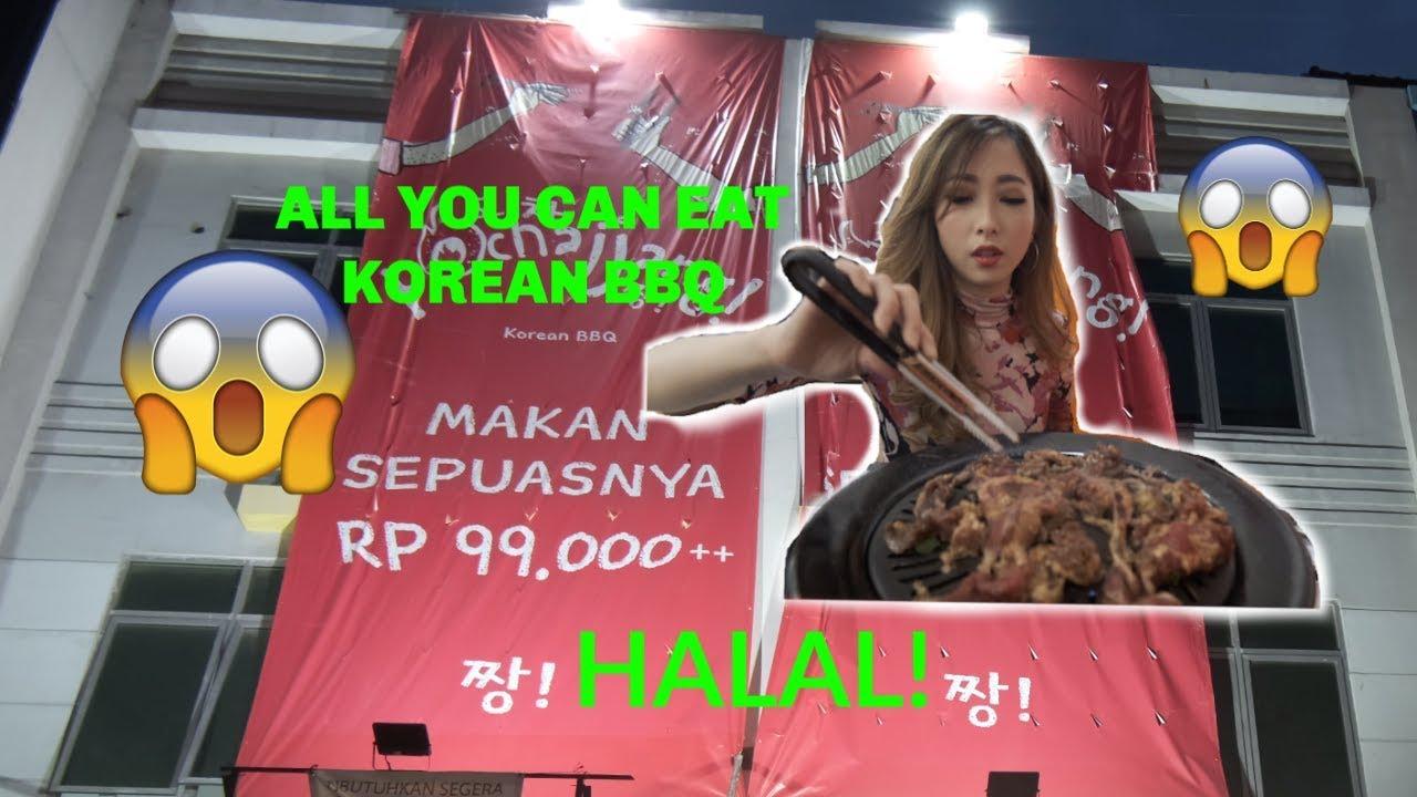 MUKBANG! Cobain ALL YOU CAN EAT Korean BBQ HALAL cuma 99ribu doang! Korean Food TERMURAH!