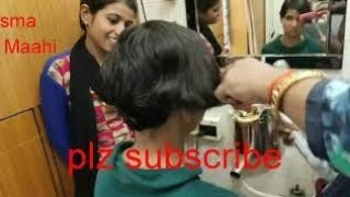 Indian My friend. s woman hair cut vlog long to short hair cut