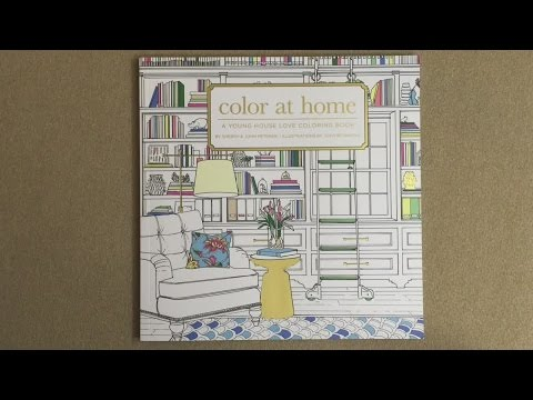Color At Home: A Young House Love Coloring Book flip through