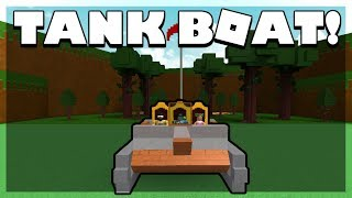 BUILDING A TANK BOAT! | Roblox Build a Boat for Treasure w/ Jinx and GirlGamer