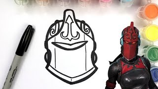 HOW TO DRAW RED KNIGHT SKIN IN FORTNITE