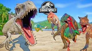 Camp Cretaceous Dinosaurs Fighting 2 In Jurassic World 🌍 Darcy I-REX , Carnotaurus, Baryonyx, T-REX