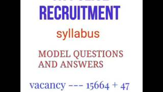 syllabus model questions with answers for tamil nadu police recruitment 2017