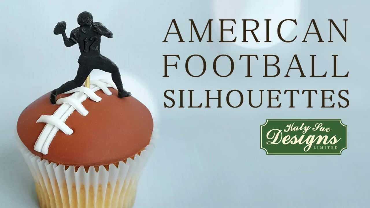 American Football Silhouettes Silicone Cake Decorating Mould