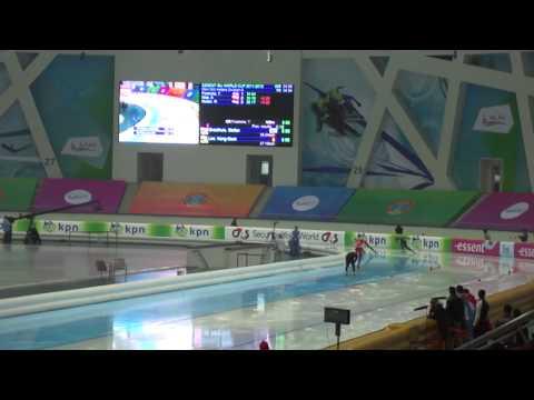 Speed Skating World Cup Astana 2011 November 25th 500m Stefan GROOTHUIS   Kang Seok LEE