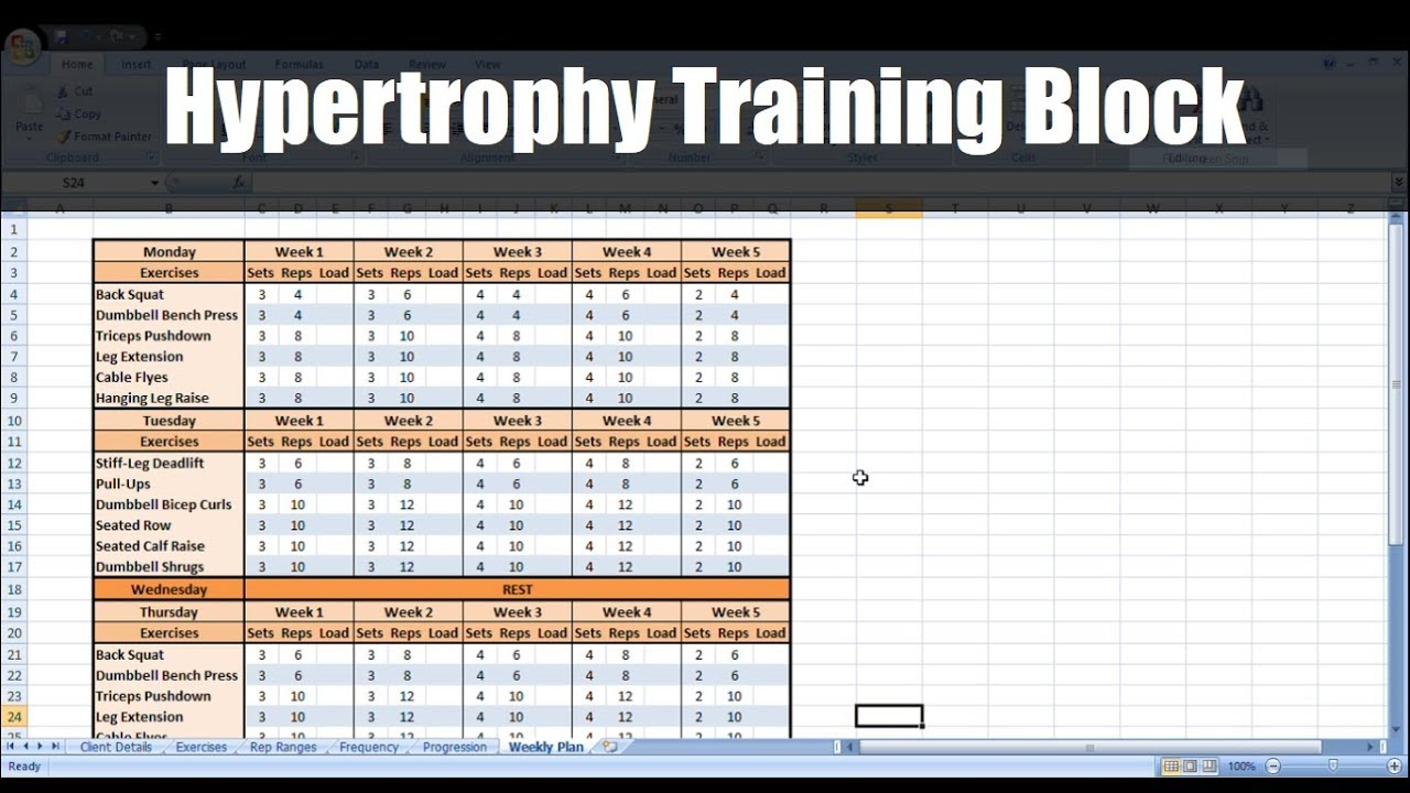 how to create a periodized hypertrophy training block to