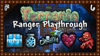 🌳 Terraria 1.3.4 Let's Play | Ranger Playthrough | Cannons, Gems & My First Hook! [Episode 6]