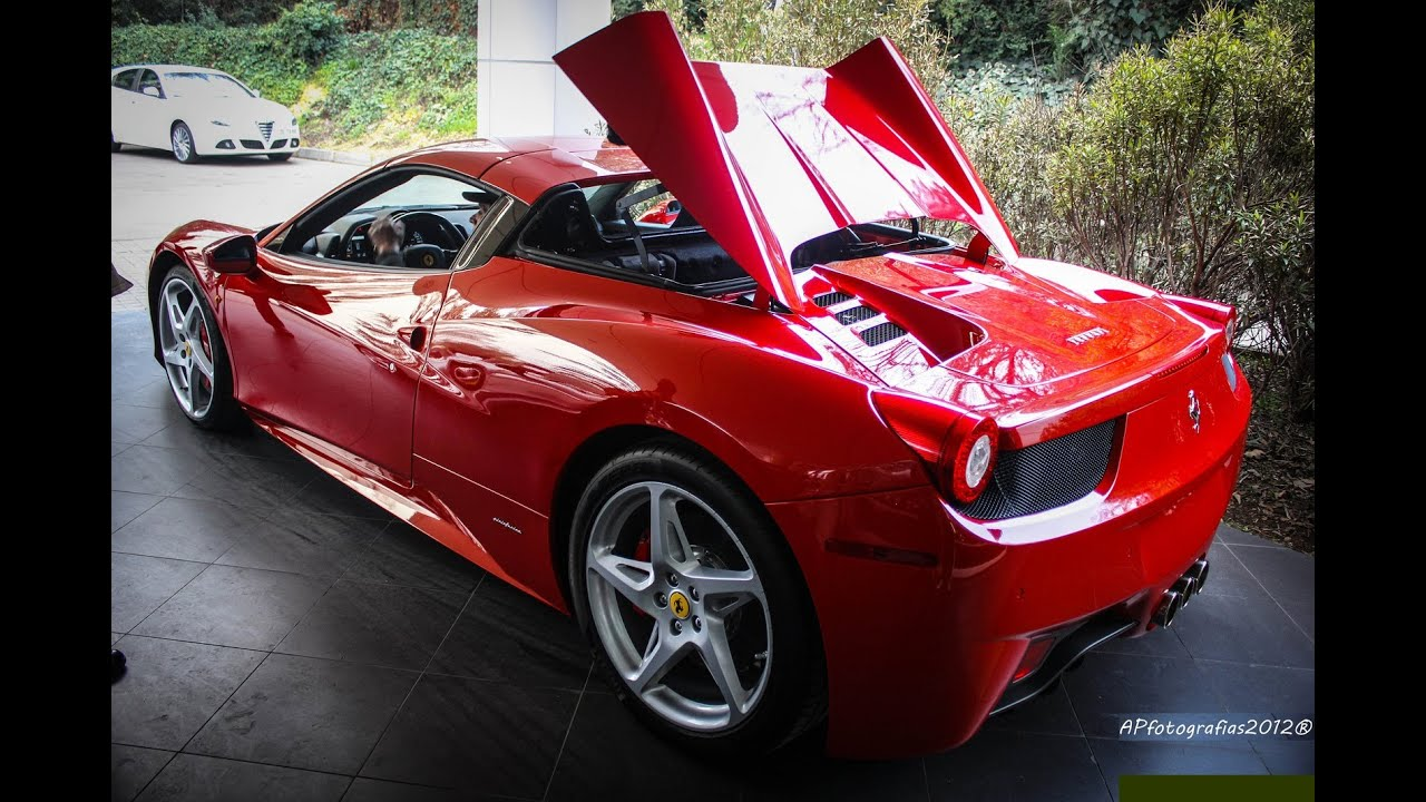 Ferrari 458 Spider - Opening roof - YouTube