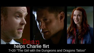 """Dean helps Charlie flirt   Supernatural   7×20 """"The Girl with the Dungeons and Dragons Tattoo"""""""